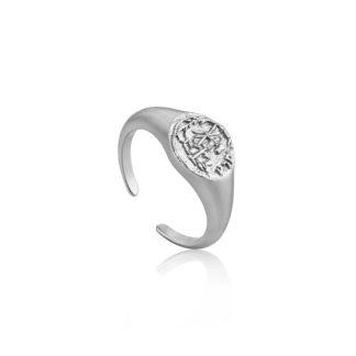 Emblem Adjustable Signet Ring