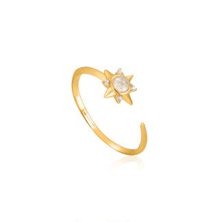 Midnight Star Adjustable Ring
