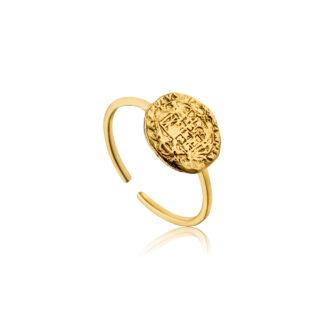 Emblem Adjustable Ring